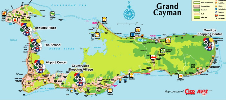 photograph regarding Printable Map of Grand Cayman named Information right after Reservations